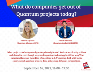 What do companies get out of Quantum projects today BANNER WEBSITE